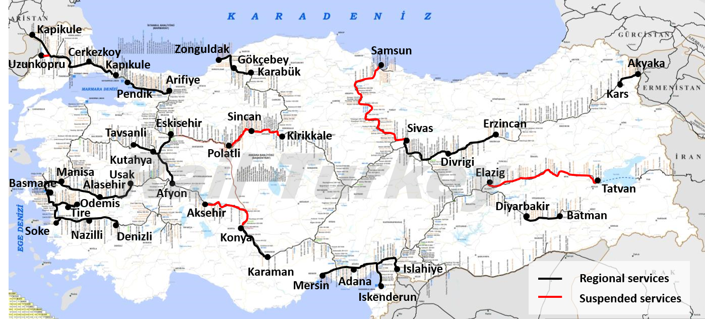 Guides and maps Rail Turkey Travel