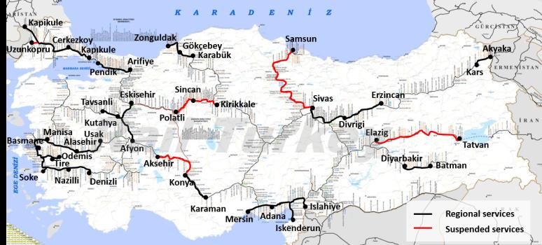 Türkiye bölgesel trenler 2017