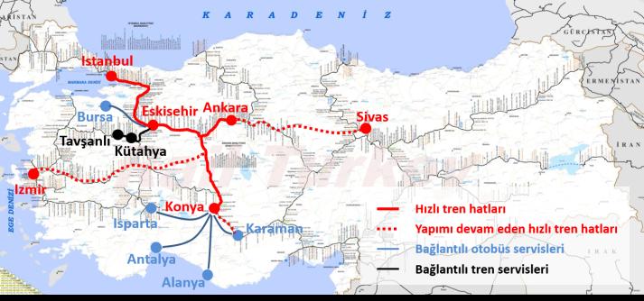 hızlı trenler 2017