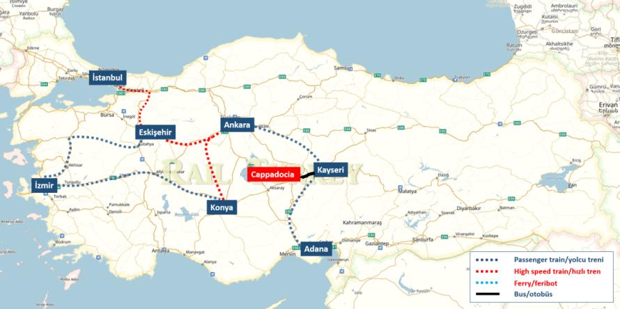 Travel to Cappadocia by train
