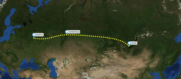 Sibirya Ekspresi - 3 Kent Güzergahı