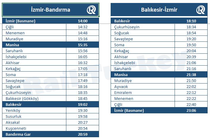 17 Eylul Express timetable