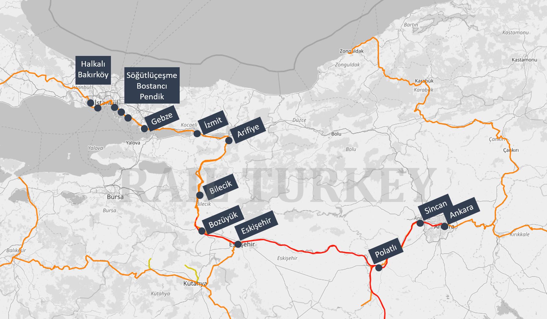 Ankara Ekspresi güzergahı