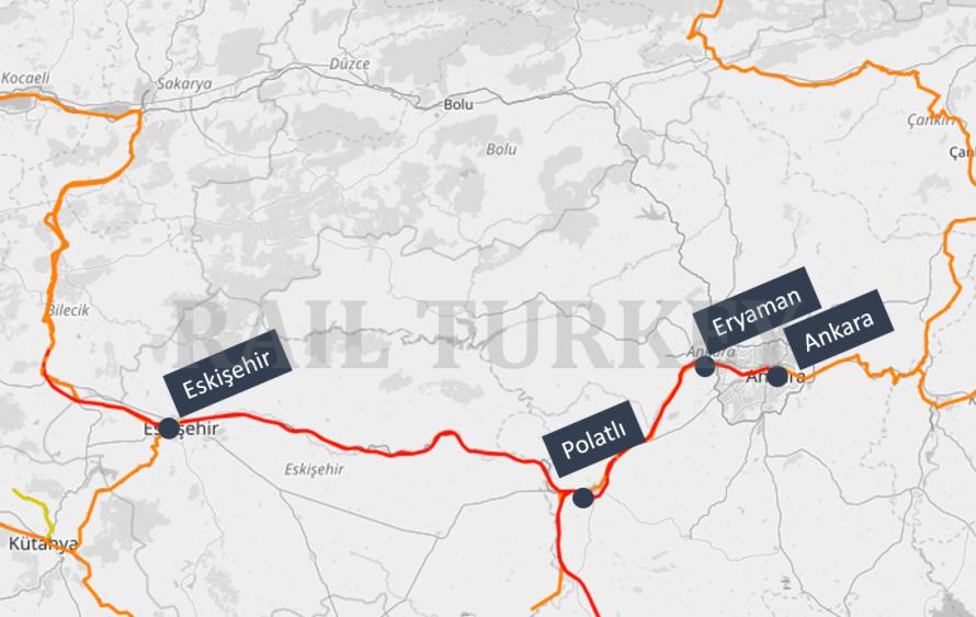 Ankara Eskisehir HST route