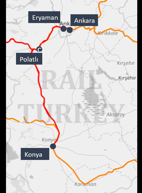 Ankara Konya HST route
