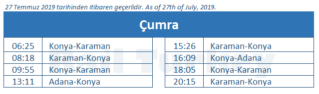 Cumra train station timetable
