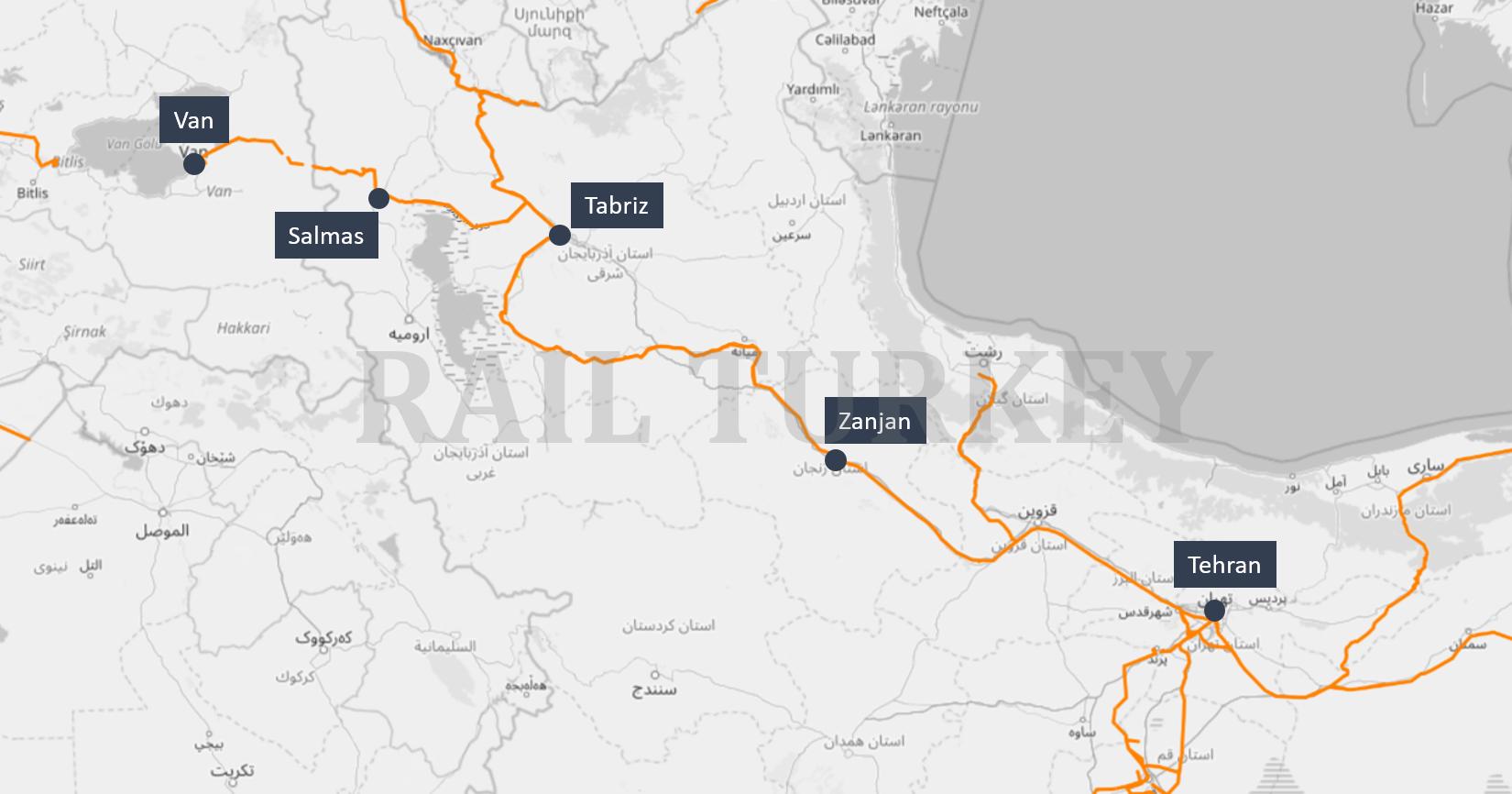 Tehran Van train route