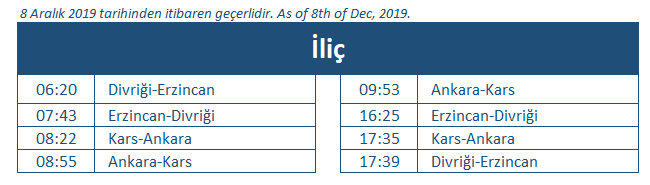Ilic train station timetable